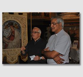 Il Rettore Don Franco Pedussia col Vicario Generale Don Alejandro Bazàn del Santuario della Madonna di Sommariva in Piemonte